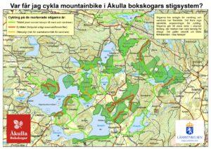 Mountainbike i Åkullas bokskogar